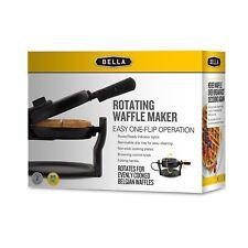 BELLA Rotating Belgian Waffle Maker, Pro Black, NEW Iron Electric