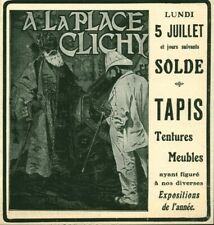 Publicité ancienne tapis tentures meubles 1909 issue de magazine