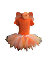Neon Tutu Tinkerbell SET 80S Fancy Dress Costume Sparkle Baby Toddler Wings