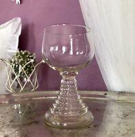 Antik 1 Weinglas Römer Glas gelber Stiel Glas Eichstrich 1/4 L