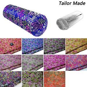 Bolster Cover*Colorful Flower Brocade Neck Roll Long Tube Yoga Pillow Case*BA5