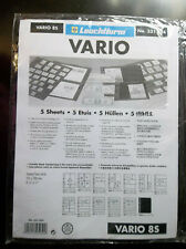 Vario Stock Sheets 8S Two-Sided Horizontal Pockets Black Pkg. 5- a7