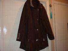 Coat size 12 designer Katherine Hammond washable zip and studs lightly padded