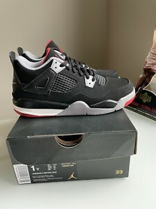 Jordan 4 Bred (2019) Youth (PS) Size 1Y