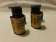 2 Rolls! Kodak Gold 200 36 Exposure Color Print 35mm Film