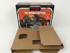 GUERRE Stellari Nuovo di Zecca Il ritorno dello Jedi Tie Interceptor BOX + inserti
