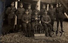 WW1 Soldier group ASC Army Service Corps Officer & Workshop staff in France