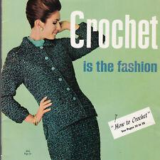 Crochet Is The Fashion 1965 Clothing Patterns Women 1 Man  Bear Brand Fleisher