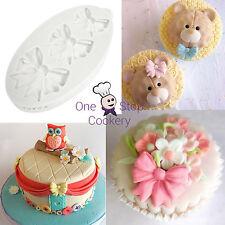 Katy Sue BOW TRIO 3 Sizes of Bows Cake Silicone Sugarcraft Mould Art & Craft