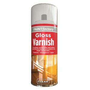 CLEAR GLOSS VARNISH SPRAY CAN INTERIOR EXTERIOR AEROSOL SPRAY VARNISH ALL PURPOS