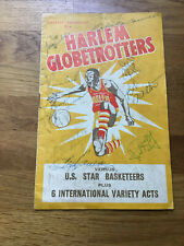 Harlem Globetrotters at Cardiff 1958 - Autographed / Signed Programme