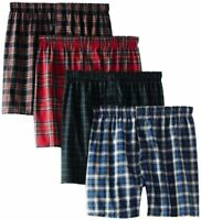Hanes Mens Underwear Ultimate 4-Pack FreshIQ Plaid Boxer W/- Select SZ/Color.