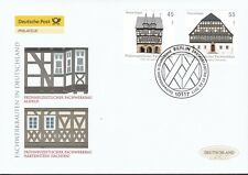 BRD 2011 Deutsche Post FDC MiNr. 2861-2862  Fachwerkbauten in Deutschland