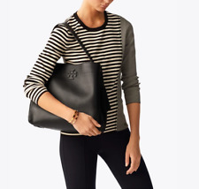 Authentic TORY BURCH MCGRAW HOBO BAG - BLACK