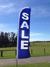 Sale Advertising Beach/Swooper Flag ONLY - Blue & White (300cm x 70cm)