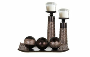 Home Decor, house warming Gift - Dining/Coffee Table Decor, Decorative Tray/Orbs