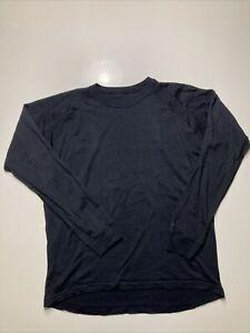 Endura Baa Baa Mens Base Layer Medium Black Merino Wool