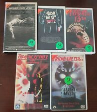 80's FILMS. FRIDAY THE 13TH. 1/2/4/5/6. HORROR. SLASHER. VHS. EX RENTALS. RARE.