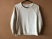 Everlane White Cotton Blend Long Sleeve Pullover Sweater Size Small