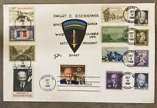 FDC FIRST DAY COVER COMMEMORATING EISENHOWER PLACARD