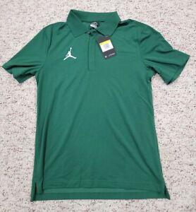 Air Jordan Nike Dri-Fit Polo Premium Shirt Green Men's Size Small $75 CD2216-341