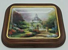 "Bradford Exchange Plate by Thomas Kinkade ""The Hidden Gazebo"" with Wood Frame"