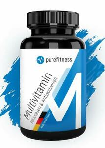 Multivitamin A-Z hochdosiert Mineralien Multi Vitamine vegan 240 Tabletten