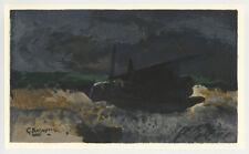 """Georges Braque lithograph """"Barque sur les galets"""""""