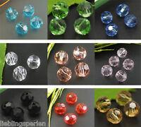 100 Kristall Facettiert Böhmische Glasschliffperlen Beads 6mm M0148