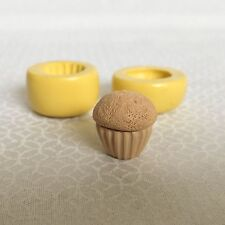"0.6"" Cupcake Flexible Silicone Mold Set (2 pieces) / Polymer Clay / Resin"