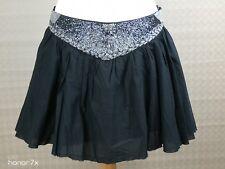 Topshop Black Mini Short Flare Sequin  Skater Skirt Size 12 100% cotton