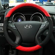 Gauss Premium Steering Wheel Cover - SHINING black & red  / 37 cm