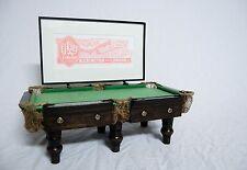 MINIATURE ADVERTISING BILLIARDS TABLE BY EJ RILEY LTD OF ACCRINGTON & LONDON