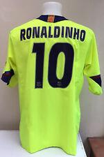 Barcelona Lejos Camiseta De Fútbol Jersey Ronaldinho 10 Xl adultos 2005/06