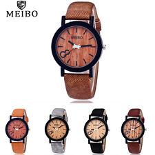 Retro Women Stainless steel Leather Watch Lady Analog Quartz Dress Wrist Watches