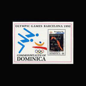 Dominica, Sc #1491, MNH, 1992, S/S, Olympics, Barcelona, sports, A5IHI-9