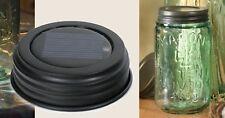 Rustic Vintage Wedding Bridal Mason Jar Solar LED Lid Light Rustic Brown 360315