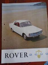 Rover 2000 range brochure c1960's ref 645