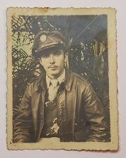 VINTAGE HAND COLORED PHOTO / US ARMY SOLDIER IN INDIA / 1944