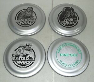 RARE Vtg 4 1977 STAR WARS PineSol /Storm Troopers /Chewbacca /Vader FRISBEE LOT