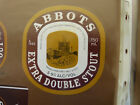 VINTAGE AUS BEER LABEL. CARLTON & UNITED - ABBOTS EXTRA DOUBLE STOUT 750ML 14DS