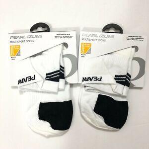 Lot of 2 Pearl Izumi Womens Elite Socks Fast Drying Mesh Ventilation White S 5-7
