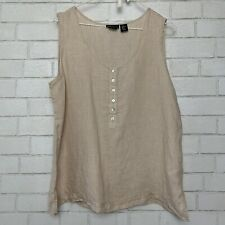 NWT JONES NEW YORK SLEEVELESS COOL CORAL TOP EASY CARE GOLD BUTTONS SIZE 4