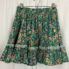 Kate Schorer SKIRT Line Dance Clogging Rodeo Size Small Floral Lace Trim