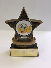 Well Done Thumbs Up Trophy . 8cm In Size FREE ENGRAVING