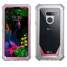 For LG G8 ThinQ Shockproof Case | Full-Body Hybrid Shockproof Bumper Cover Pink
