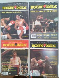 Boxing Digest, by Hank Kaplan  1979 - 1980 - 1981    17 total