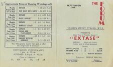 Ecstasy 1938 Vintage London Forum Handbill Controversial Hedy Lamarr Film