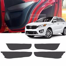 Carbon Door Decal Sticker Cover Kick Protector For KIA 2015-2018 Sorento UM