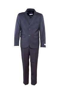 Jungen Anzug Grau Kommunion Anzug Kommunion Festanzug Hochzeitsanzug Set 3 Teile